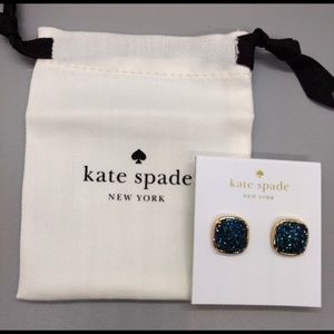 NWT Kate Spade Clay Pave Square Stud Earrings